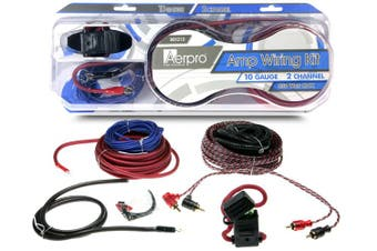 Aerpro BSX210 10 GA Gauge AWG 2-Channel 350W Car Amplifier Wiring Kit