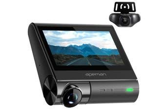 Apeman C770 4K GPS Wi-Fi Dual 1080P Front & Rear Dash Cam Touch Screen