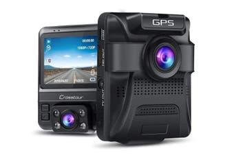 Apeman CR750 Crosstour Dual Channel Full HD IR Dash Camera for Uber