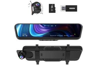 "Thieye CarView 3 Mirror Dash Cam 2.5K 1440P 32GB 10"" IPS Touch Screen"