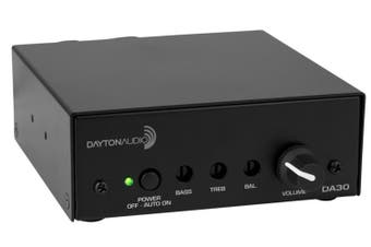 Dayton Audio DA30 Mini Stereo 1/2 Channel 15W Class-D Amplifier