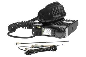 CRYSTAL DB477A Pack 5 watt UHF CB 2-way radio with duplex + CBA3F1 CB Antenna + 5m installation cable
