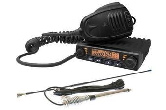 Crystal DB477E 80 Channel 5W In-Car UHF CB Radio + 6dBi Antenna