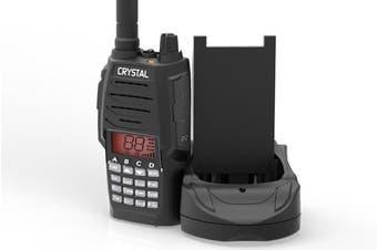 Crystal DBH50R Hand Held UHF CB Radio 5W Watt 80CH 2 Way, LED Light, Charger Included – New