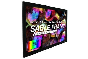 "Elite Screens ER150DHD3 150"" Sable Frame CineGrey 3D Projection Screen"