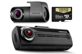 Thinkware F200 64GB Full HD Front + Rear Dash Cam + HWC Bundle F20064K