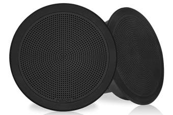 "Fusion FM-F77RB 7.7"" 200W Black Grille Flush Mount Marine Speakers"