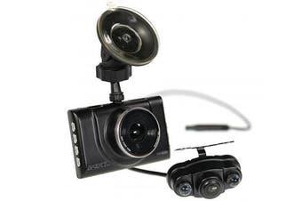 """Gator GHDVR52R 8GB 3"""" LCD Full HD Dash Camera + Rear View Camera"""