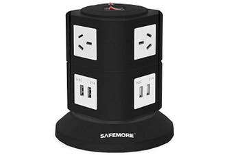Safemore 2 Level Power Stacker Power Board in Black and White