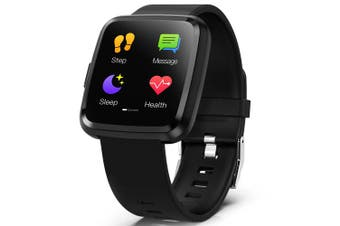 "Havit H1104A 1.3"" Touch Screen Fitness HRM Waterproof Smartwatch Black"