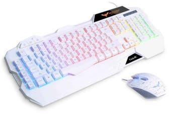 Havit LED Backlit Keyboard & Mouse Combo - White