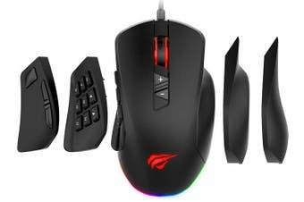 Havit HV-MS760 RGB Pro Gaming Mouse w/ 12000 DPI Left/Right Hand Plate