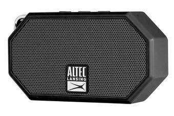 Altec Lansing Black Mini H20 Bluetooth AUX Wireless Portable Waterproof Speaker