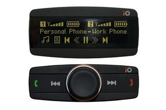 iO PLAY2 Bluetooth Handsfree Car Kit Music Streaming w/ Display