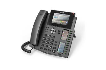 "Fanvil X6 Enterprise IP Phone 4.3"" (Video) Colour Screen 20 Lines Dual Gigabit X6"