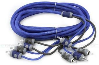 Kicker KI44 4-Channel 4M RCA Interconnect Cable