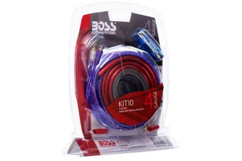 Boss KIT-10 4-Gauge 2-Ch Amp Wiring Kit