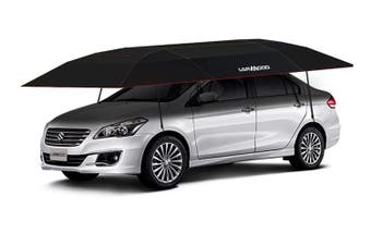 Lanmodo Automatic Car Umbrella Roof Cover Sun Shade Tent UV 3.5M x 2.1M Black