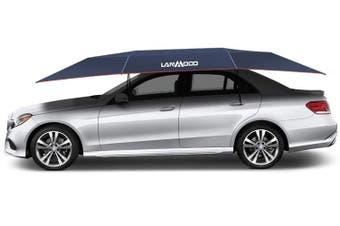 Lanmodo Automatic Car Umbrella Roof Cover Sun Shade Tent UV 3.5M x 2.1M Navy
