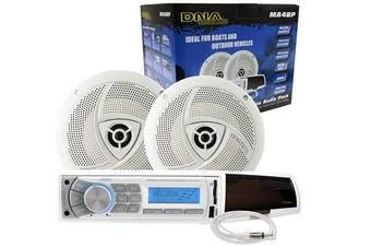 """DNA MA4BP Marine Audio Pack Radio + 6.5"""" Speakers + Antenna"""