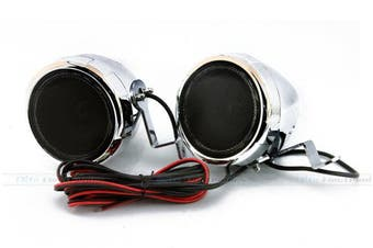 "Boss Audio MC400 3"" Chrome Motorcycle Speakers + Amplifier"