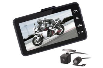 """Thieye Moto One Motorcycle Dash Cam 3"""" LCD IP67 Dual Front Rear Camera"""