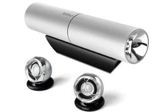 Edifier MP300 Plus Aurora 2.1 Portable Audio System Hi-Fi Speaker 3.5 AUX Silver