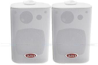 """Boss Audio MR4.3W 4"""" Marine/Outdoor Enclosed Speakers"""