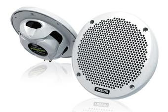 "Fusion MS-EL602 6"" Shallow Mount 2-Way Marine Speakers White"