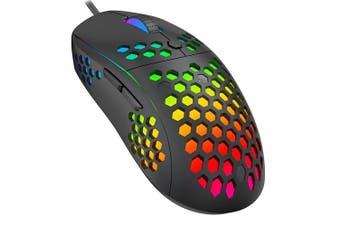 Havit MS878 RGB Backlit Light Durable Honeycomb 10000 DPI Gaming Mouse