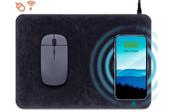 HyperGear Wireless Qi Charging Mouse Pad Black 14594