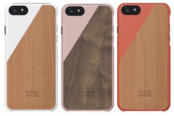 Native Union Clic Wooden iPhone 6 Plus / 6S Plus - Color: Orange/Cheery Wood