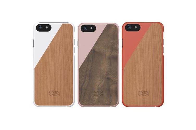 Native Union Clic Wooden iPhone 6 Plus / 6S Plus - Color: Orange/Cheery Wood