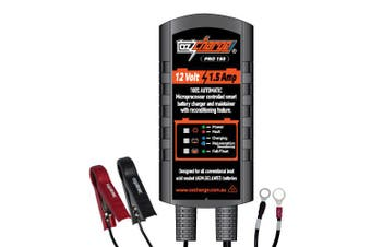 OzCharge 12 Volt 1.5A Amp 8-Stage Battery Charger & Maintainer