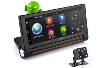 Pyle Touchscreen Android DVR Dashcam GPS Bluetooth w/ Dual Cameras