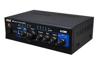 Pyle PTA4 Mini 2 x 120 Watt Stereo Power Amplifier w/ AUX CD Input