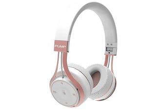 BlueAnt Pump Soul On-Ear Wireless Headphones - White/Rose Gold
