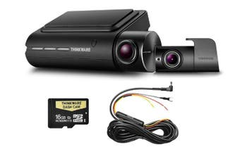 Thinkware Q800PD Front & Rear 1080P Dash Cam + Hardwire 16GB