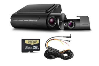 Thinkware Q800PD Front & Rear 1080P Dash Cam + Hardwire 32GB