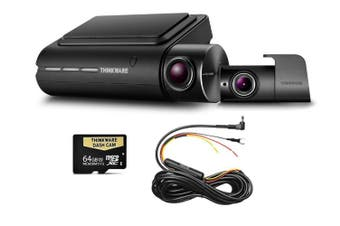 Thinkware Q800PD Front & Rear 1080P Dash Cam + Hardwire 64GB