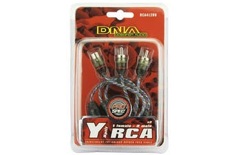 DNA RCA412BU 22cm Y Splitter 1 Female To 2 Male RCA Cable