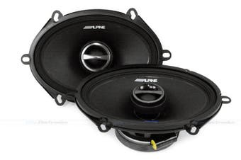 "Alpine S-S57 S-Series 5×7"" Inch 2-Way 230W Coaxial Speaker Pair"