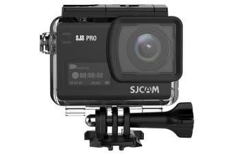 Original SJCAM SJ8 Pro 4K 60fps Dual Touch Screen WiFi Action Camera-Black