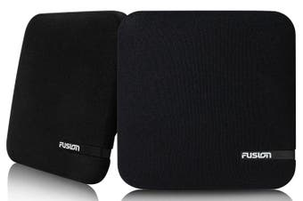 """Fusion SM-F65CB 6.5"""" 100W Shallow Mount Speakers Square Black Grilles"""