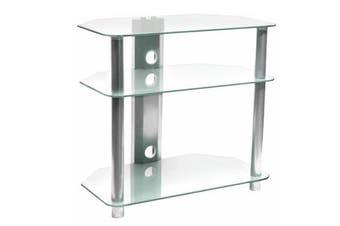 Studio Acoustics SVR332 3 Tier Clear Glass AV Stand