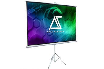 "Akia Screens 100"" Portable Indoor Outdoor 4:3 Tripod Projector Screen"