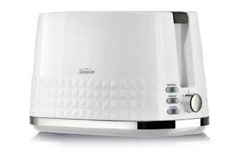 Sunbeam Diamond Collection 2 Slice Toaster White TA1900W