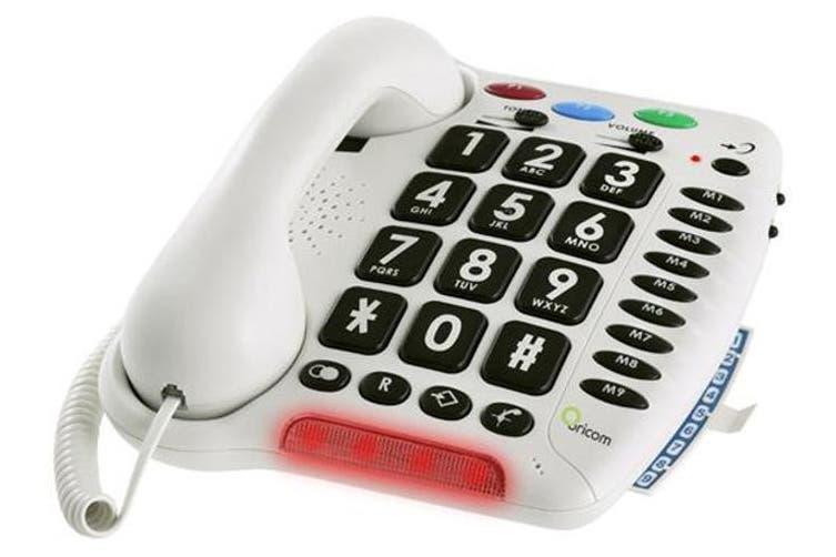 Oricom TP100WH Care100 Amplified Big Button Phone