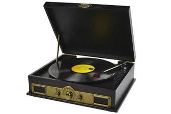 mbeat Vintage USB Turntable w/ Bluetooth Speaker & AM/FM Radio