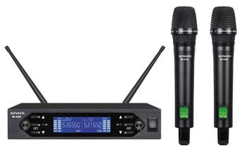 Sonken WM4000D UHF Dual Channel Professional Wireless Microphone Kit